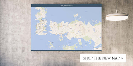 New Game of Thrones Map featuring Westeros & Essos!