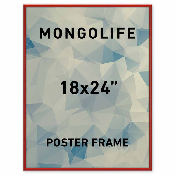 18 x 24 Red Poster Frame - Profile: #15