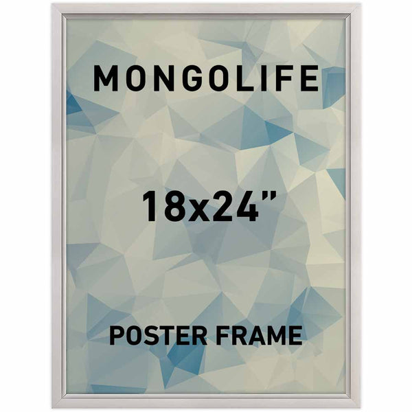 "Slide In Frame, 18'' X 24'' Poster Size, 0.93"" Silver Color Profile"