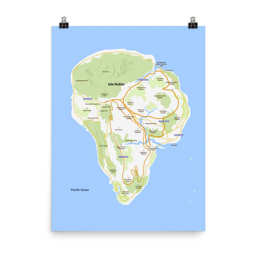 Isla Nublar - Google Maps - Poster - Posters at Mongolife