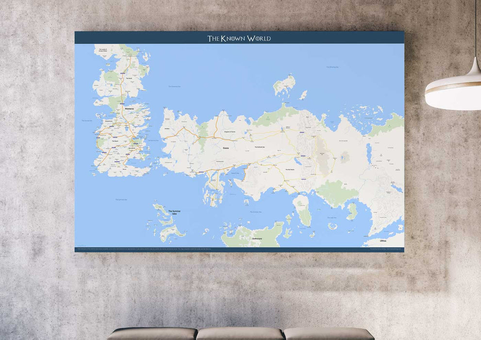 Westeros & Essos (2nd edition) - Google Maps - Poster - Posters at Mongolife