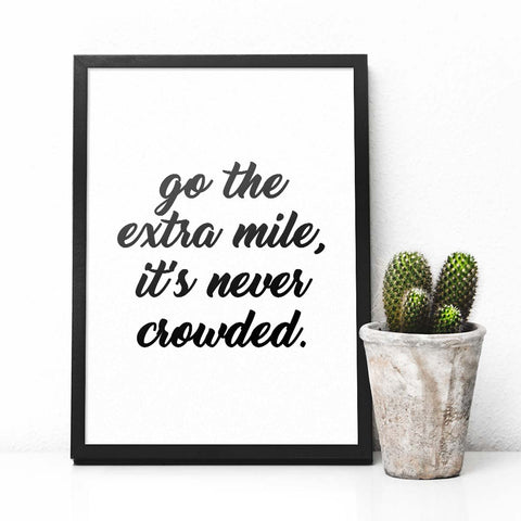 Go The Extra Mile - Poster