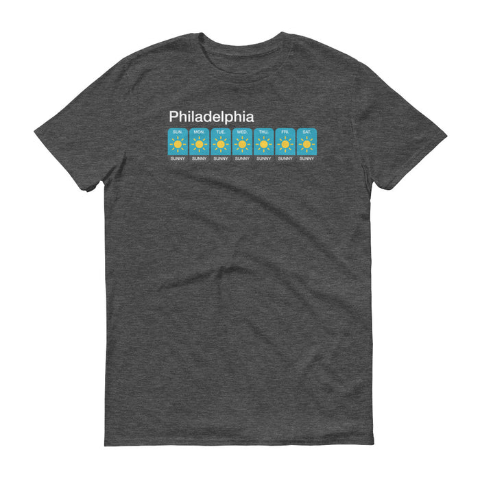 Philadelphia Weather Forecast - Unisex T-Shirt - T-Shirts at Mongolife