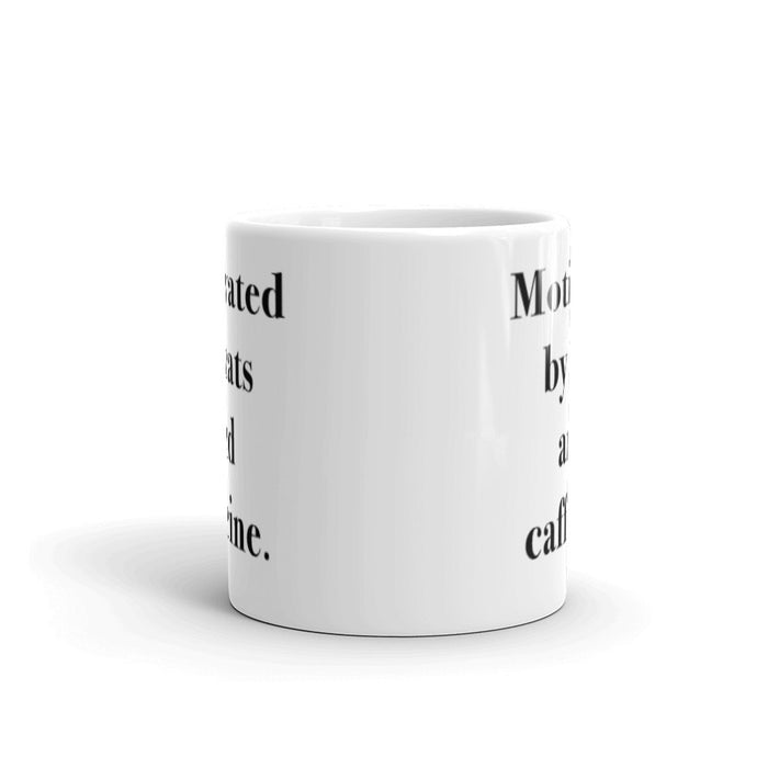Motivated By Cats - Mug - Mug at Mongolife