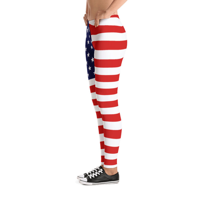 American Flag - Leggings - Leggings at Mongolife