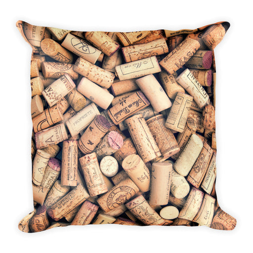 Wine Corks - Square Pillow - Pillows at Mongolife