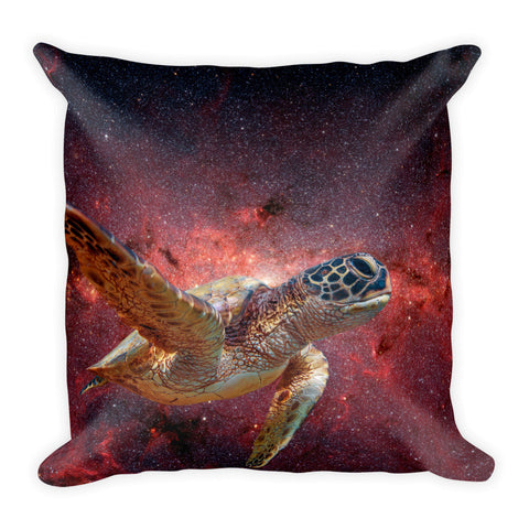 Space Turtle - Square Pillow