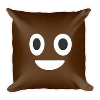 Poop Emoji - Square Pillow - Pillows at Mongolife