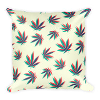 Weed 3D - Square Pillow - Pillows at Mongolife
