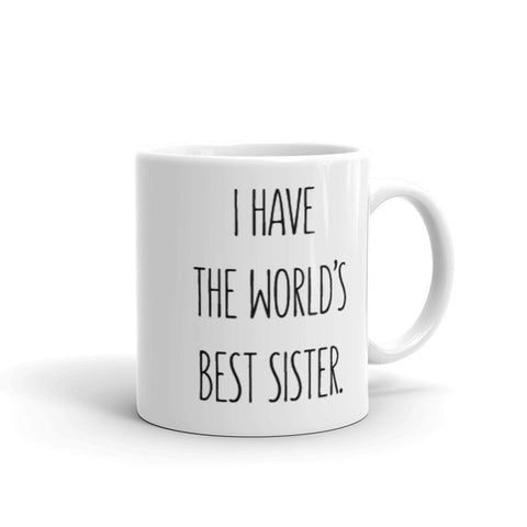 World's Best Sister - Mug - MongoLife Mug at Mongolife