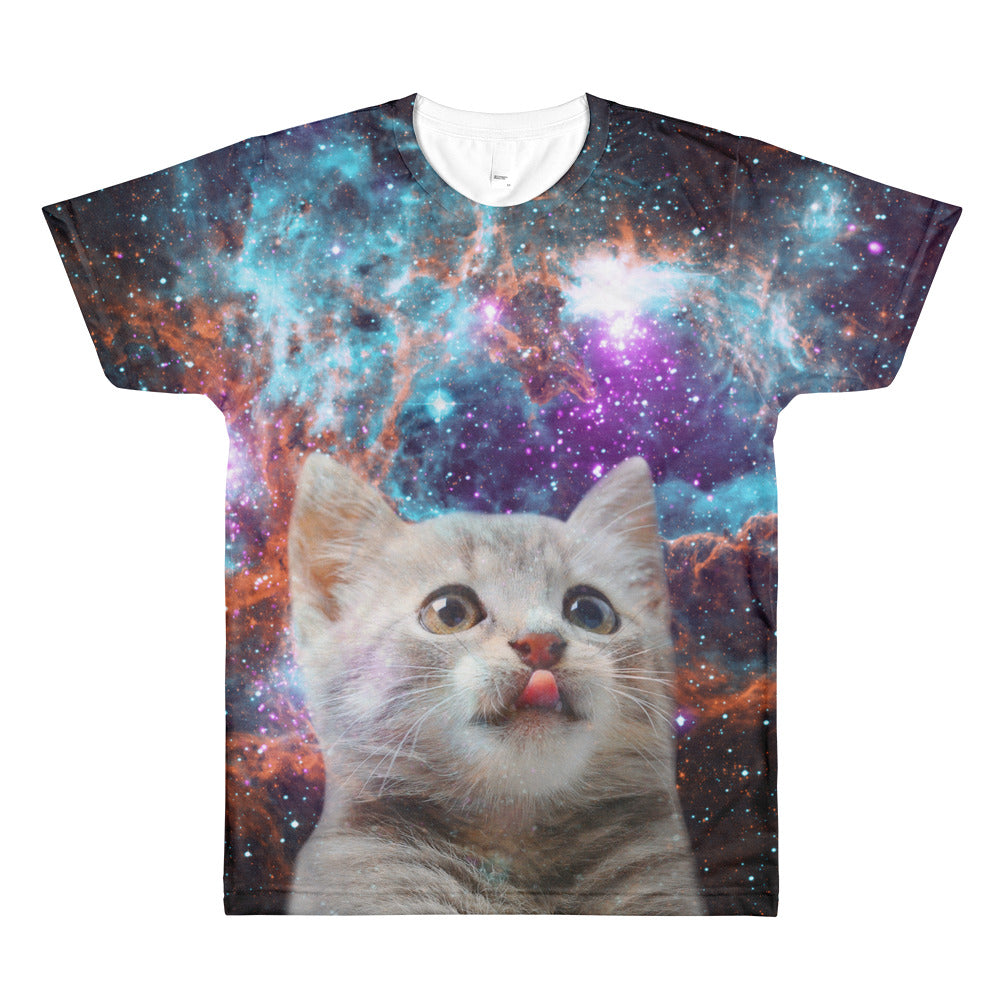 Space Kitten - All-Over T-Shirt - T-Shirts at Mongolife