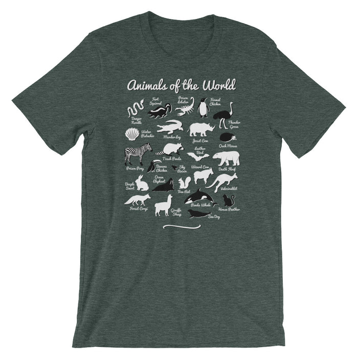 Animals of the World - Unisex T-Shirt - T-Shirts at Mongolife