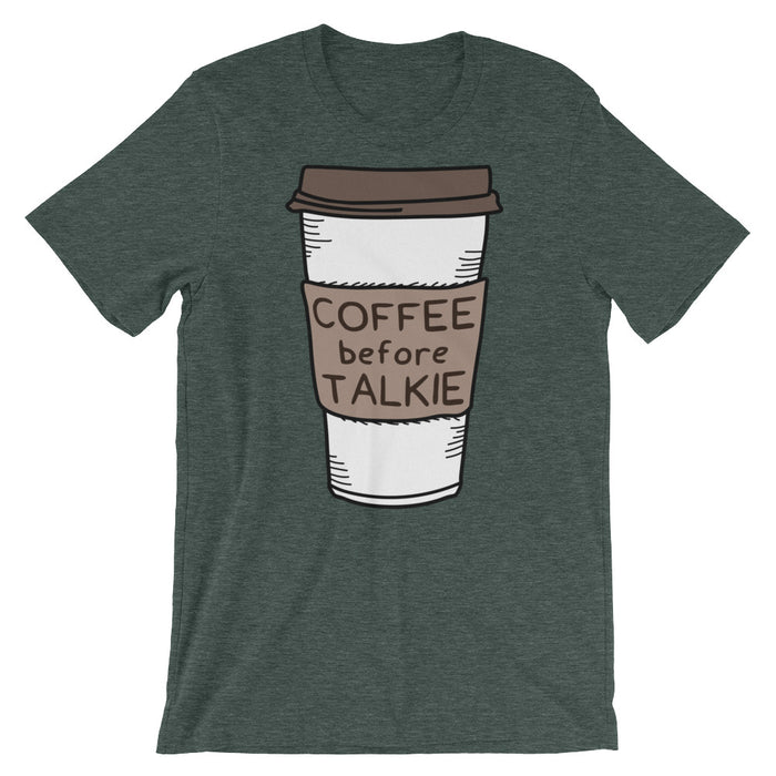 Coffee Before Talkie - Unisex T-Shirt - T-Shirts at Mongolife