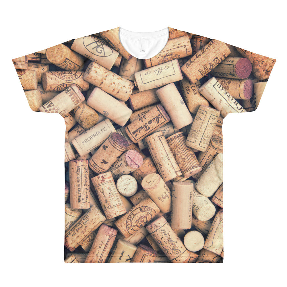 Wine Corks - All-Over T-Shirt - T-Shirts at Mongolife