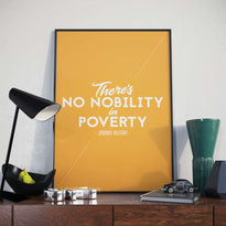 There's No Nobility in Poverty - Poster - Posters at Mongolife