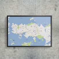 Essos (1st edition) - Google Maps - Poster - Posters at Mongolife