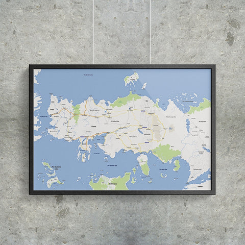 Essos - Google Maps - Poster - Game of Thrones at MongoLife