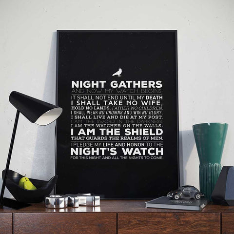 Posters - Night's Watch Oath - Poster