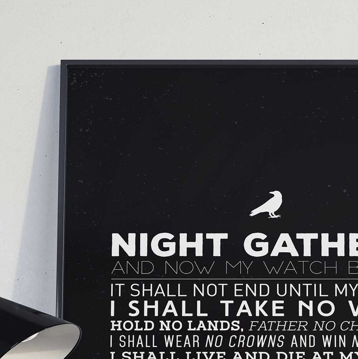 Night's Watch Oath - Poster - Posters at Mongolife
