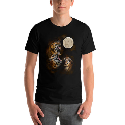 Three Tiger Moon - Unisex T-Shirt - T-Shirts at Mongolife
