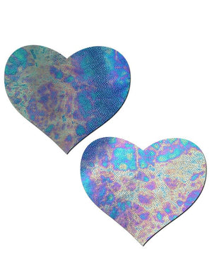 Liquid Acid Blue Heart Nipple Pasties