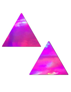 Pink Holographic Triangle Nipple Pasties