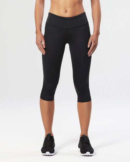 2XU - Compression Tights - 3/4 length - Midrise - Black