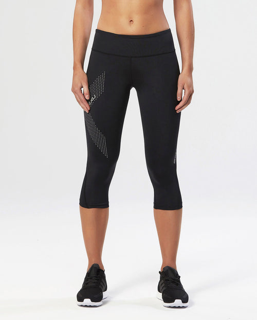 2XU - Compression Tights - 3/4 Length - Midrise - Reflective