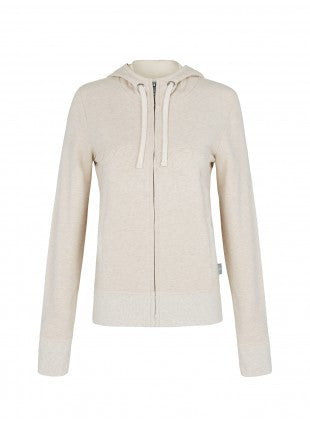 Pilot Carter Ribbed Hoodie - Natural Marle