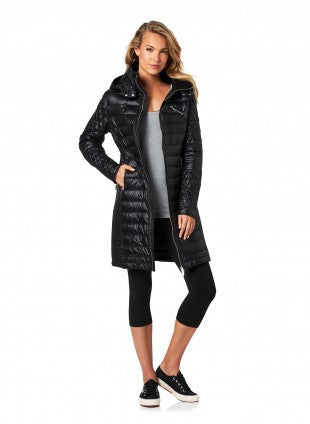 PILOT Athletic - Florence Biker Puffer Trench - Black