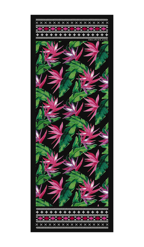 Yogi Peace Club Tropicana Black Yoga Matt
