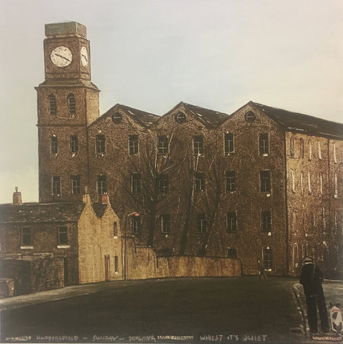 Peter Brook - Old Mill, Huddersfield - Sunday - Drawing Early Morning Whilst It's Quiet