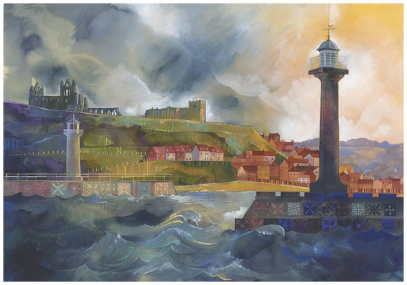 Kate Lycett - Whitby Breakwaters
