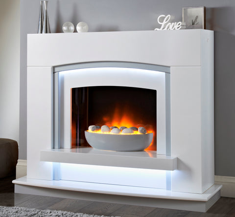 Arched Vegas Suite - Electric Fire, Surround & Hearth