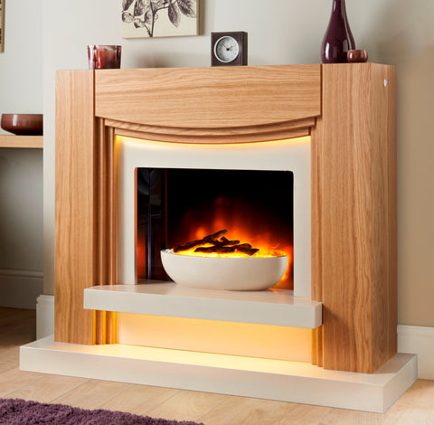 Chicago Suite - Electric Fire, Surround & Hearth