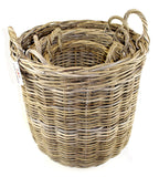 Round Basket Set of 4 with Ear Handles