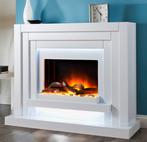 Seattle Deluxe -Electric Fire, Surround & Hearth
