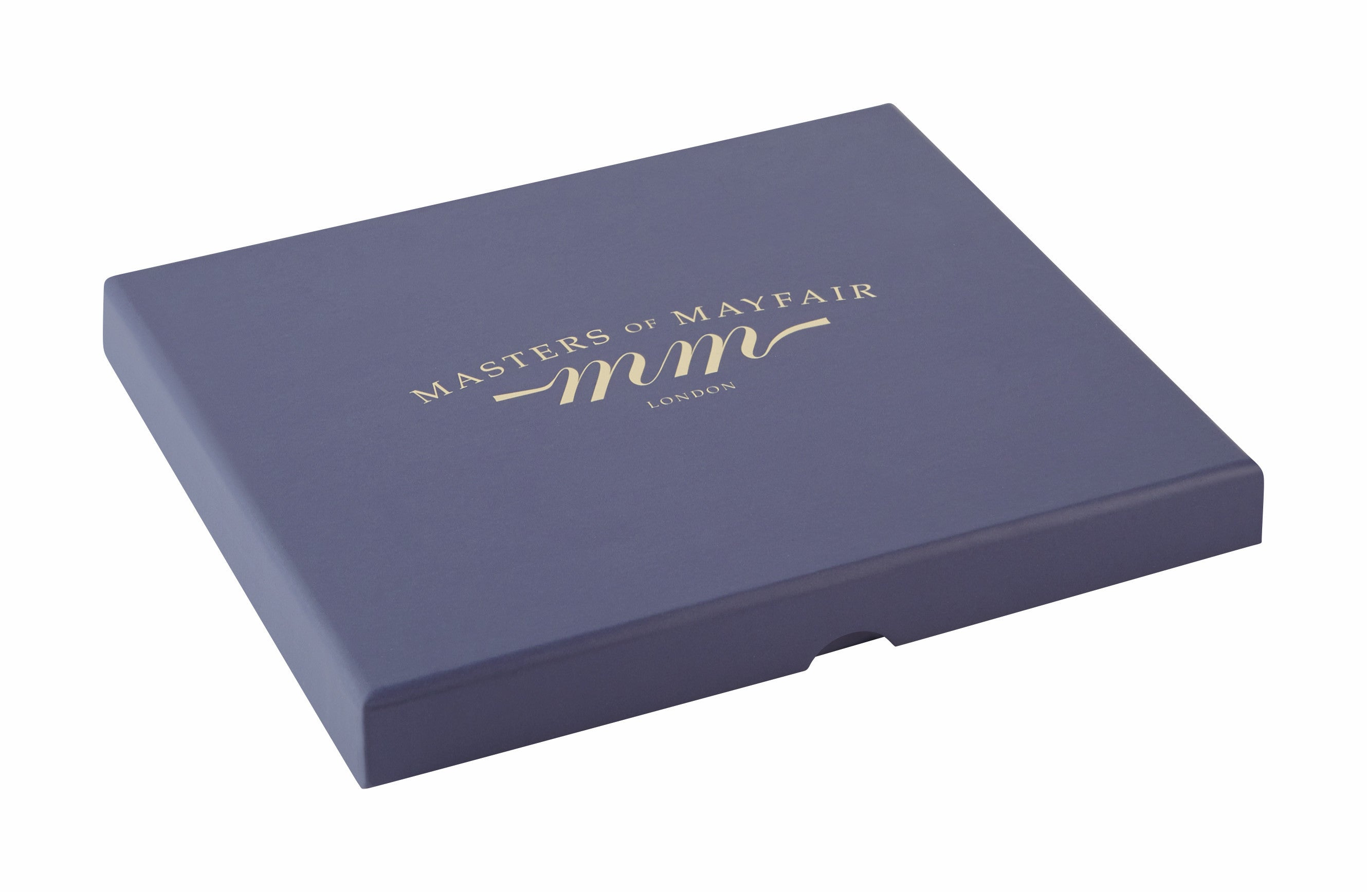 Lavender Infused Luxury Sleep Face Mask Masters Of Mayfair UK Navy Blue Gift Box