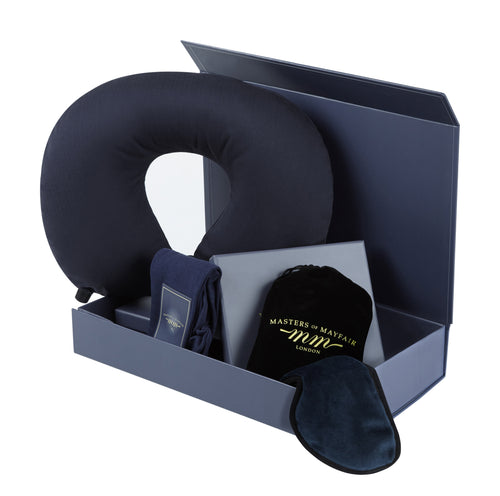 Luxury Sleep Mask Travel Pillow Accessory Set UK Unisex