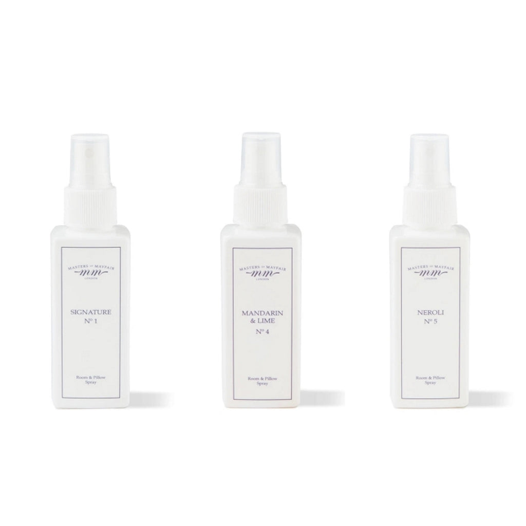 Pillow room spray mist scent set UK Masters of Mayfair