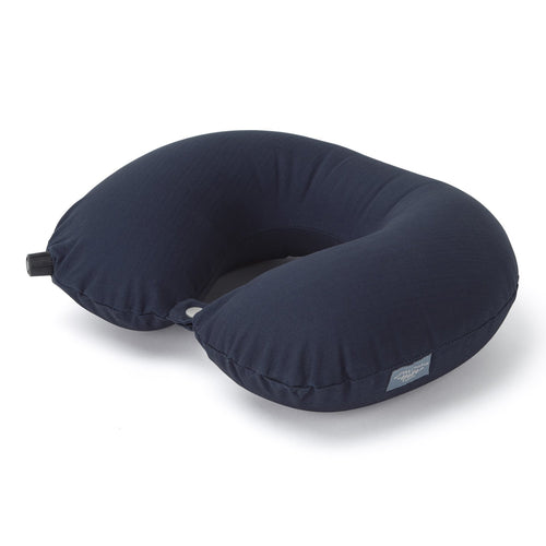 Best Luxury Travel Pillow Navy Inflatable Cotton UK Masters of Mayfair