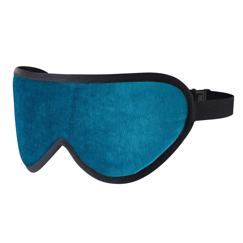 Luxury Sleep Mask - Aqua Blue