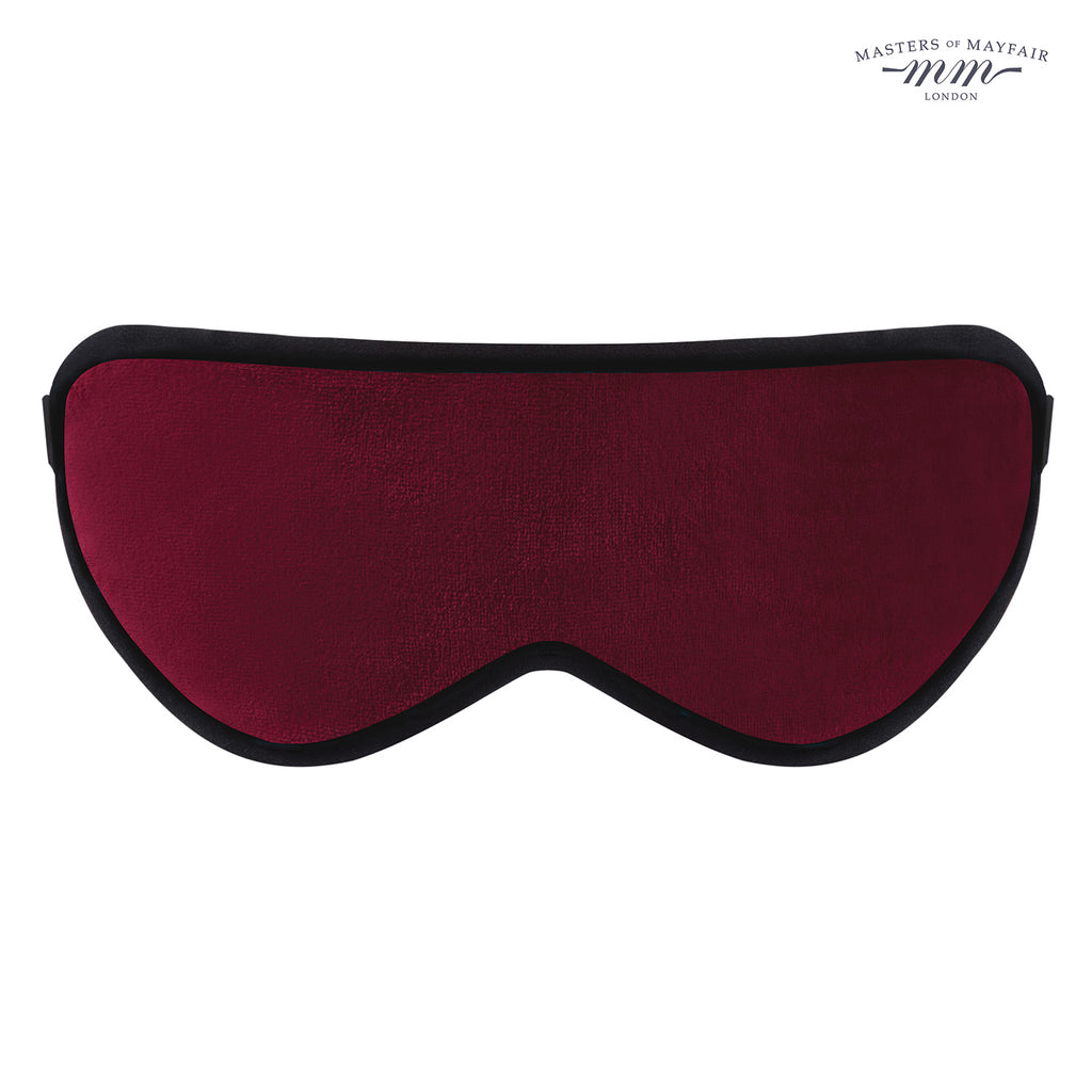 Luxury Silk Eye Mask - Bond Street Burgundy