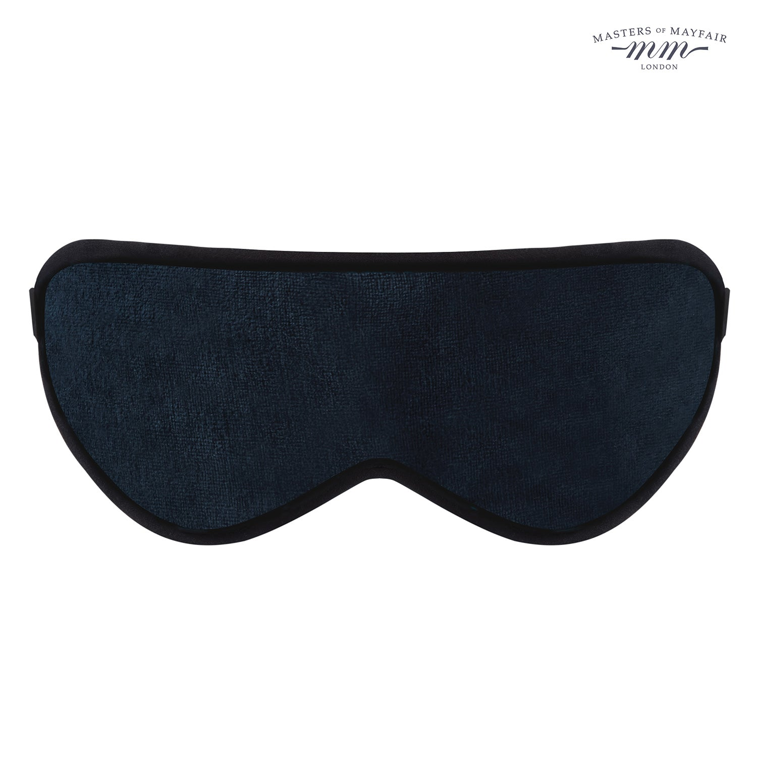 Lavender Infused Luxury Sleep Face Mask Masters Of Mayfair UK Navy Blue Front Unisex