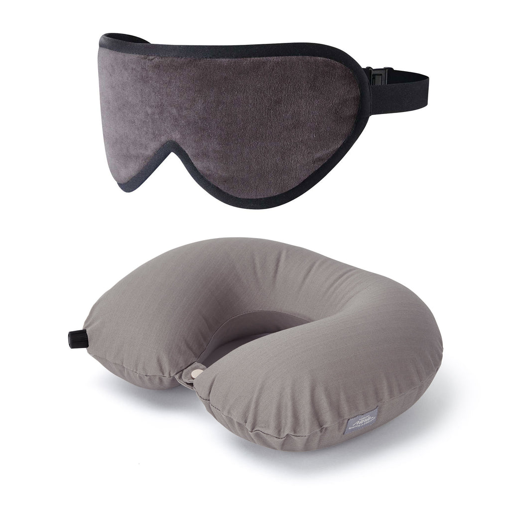 Luxury Travel Gift Set Pillow Sleep Mask Set Masters of Mayfair Grey Unisex Best