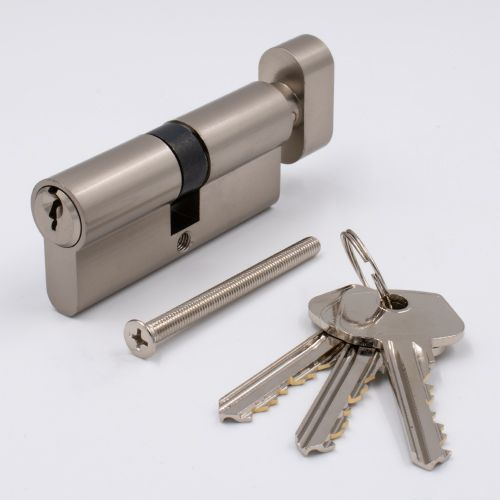 Euro Keyed Cylinder Key/Thumbturn 60mm