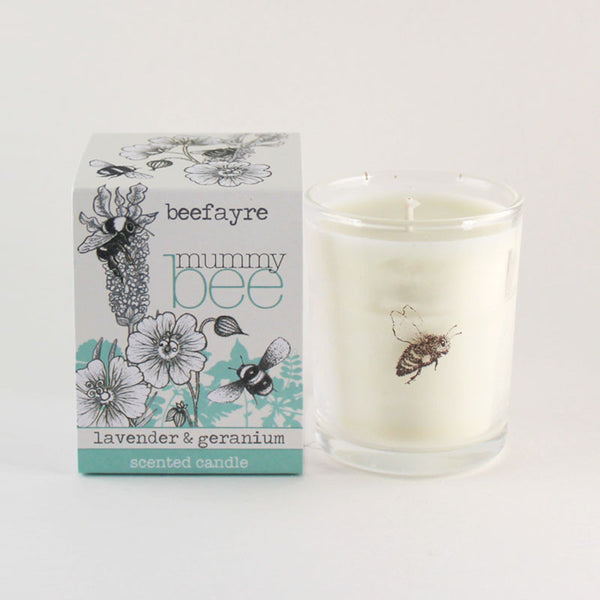 "Beefayre ""Mummy Bee"" Lavender & Geranium Scented Votive Candle"
