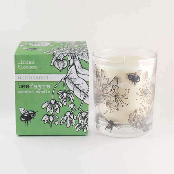 "Beefayre ""Bee Garden"" Linden Blossom Large Scented Candle"