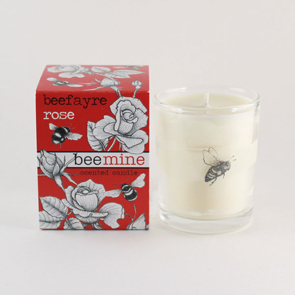 "Beefayre ""Bee Mine"" Moroccan Rose Scented Votive Candle"