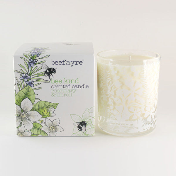 "Beefayre ""Bee Kind"" Rosemary & Neroli Large Scented Candle"